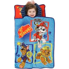 Nickelodeon Paw Patrol Ruff Ruff Rescue Toddler Nap Mat, Multicolor