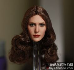 """(52.78$)  Watch more here - http://ai5wk.worlditems.win/all/product.php?id=32642958971 - """"1/6 scale figure doll head for 12"""""""" action figure doll accessories.Elizabeth Olsen Scarlet Witch figure doll head sculpt"""""""