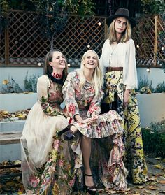 EDITORIAL: Delevingne Sisters in Porter Magazine #19 Spring 2017 by Bjorn Iooss — We Are Family — Photography: Bjorn Iooss,  Models: Cara Delevingne, Poppy Delevingne, Chloe Delevingne & Family,  Styling: Helen Broadfoot,  Hair: Larry King,  Make-Up: Liz Pugh,  Manicure: Kate Cutler .