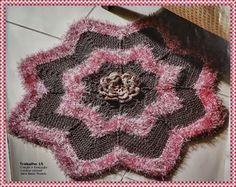 Tapete de Crochê em Formato de Estrela