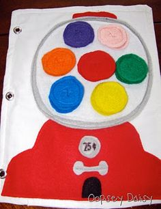 Gumball Machine...I want to make one of these books for my niece or nephew...like my sis and me use to have!