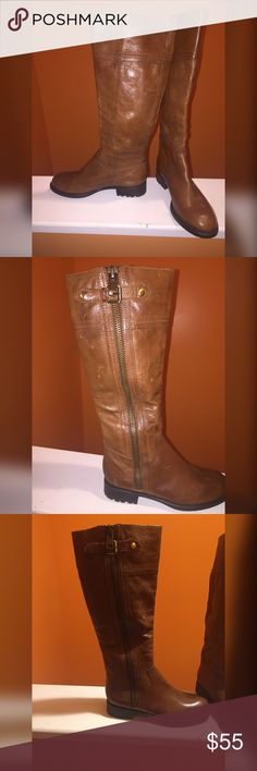 Brown Franco Sarto Boots Beautiful Brown Riding Boots.  Perfect for a little girl or for yourself ! In great condition! Franco Sarto Shoes Winter & Rain Boots