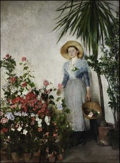 """Olga Boznanska, """"The Greenhouse"""", 1890, oil on canvas, 235 x 180 cm, owned by the National Museum of Art in Warsaw"""