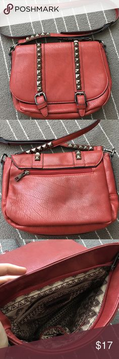 Cute alternative MMS studded bag! Cute red studded bag! MMS Bags Crossbody Bags