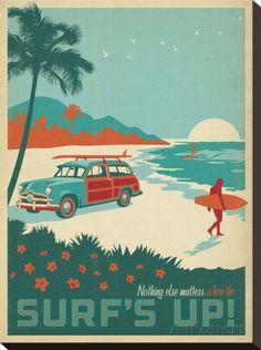 オールポスターズの Anderson Design Group「Nothing Else Matters When The Surf's Up!」キャンバスプリント