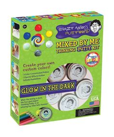 This time it's personal. Create your own custom-colored Thinking Putty with a Mixed by Me Kit. Mixed by Me Thinking Putty Kit is made in the USA! Clear Putty, Aaron's Thinking Putty, Slime Kit, Paper Store, Best Kids Toys, To Color, Cool Toys, Colored Pencils, Things That Bounce