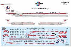 Air Koryo Ilyushin IL62 decals