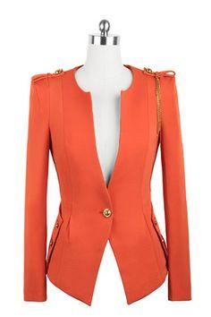 blazer patterns | Home > Clothing > Blazers > Round Neck One Button Blazer