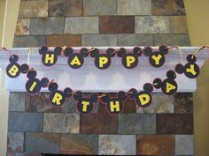 Disney Mickey Mouse Inspired Birthday Banner by jenniferwhitaker, $15.00