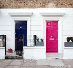 Navy and pink doors :)
