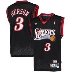6f58d782d Allen Iverson Philadelphia 76ers adidas Hardwood Classics Swingman Jersey –  Black Allen Iverson