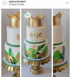 Jungle Birthday Cakes, Jungle Theme Cakes, Safari Theme Birthday, Boys First Birthday Party Ideas, Baby Boy 1st Birthday Party, Safari Cakes, Safari Party, First Birthday Cakes, Jungle Safari Cake