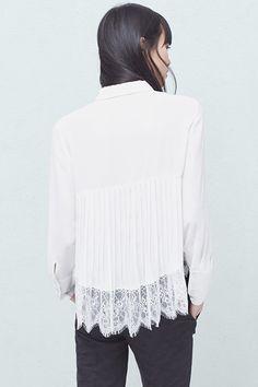 Pleated Back Shirt, £39.99   Mango