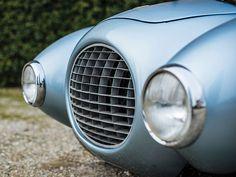 The distinctive 1950 Ferrari 166 MM212 Export Uovo is a unique piece of racing history.