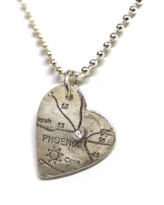 PHX heart necklace! Perfect for your AZ #valentine! #locallove
