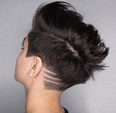 Popular Short Haircuts, Cool Short Hairstyles, Undercut Hairstyles, Pixie Hairstyles, Sassy Haircuts, Short Hair Model, Super Short Hair, Hair Tattoos, Short Hair Cuts For Women