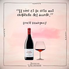 Ernest Hemingway, Hemingway Frases, Sylvia Plath, Intj, Travel Design, Wedding Art, Red Wine, Alcoholic Drinks, Allan Poe