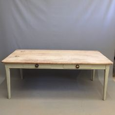 French Scrub Top Farmhouse Table
