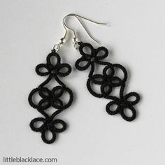 tatted earring | Classic or gothic – what do you think? Black handmade earrings made ...