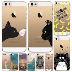 For Apple iPhone 5 5S Ultra Thin 0.5mm Soft TPU Cute Animal Fruit Translucent  Painted Mobile Phone Accessories Back Skin Case //     Price: US $0.83 & Free Shipping //     Casesaholic.com //     #cellphonecase   #lifestyle