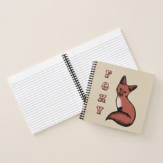 Beautiful Red Foxy Fox Notebook - sleek personalize diy customize cyo