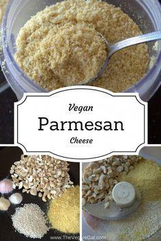 WFPB Vegan Parmesan Cheese.  Vegan | Gluten Free | Plant based