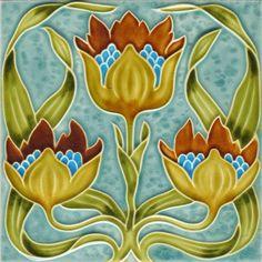 MATIN LUMINEUX: Carreaux en céramique Art Nouveau