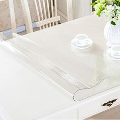 ec9058bd83c yazi Transparency PVC Tablecloth Waterproof Oilproof Heat Insulation Table  Cover Kitchen Dining Placemat Pad Thickness 1.0mm