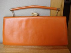 Vintage  Leon of California  Orange Handbag by fridayfindsmama, $18.00