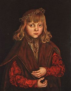 A Prince of Saxony, 1517,  by Lucas Cranach the Elder