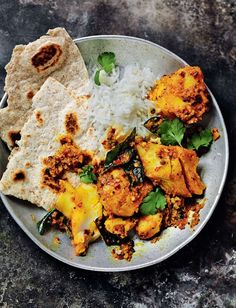 A South Indian style fish curry from Rick Stein. This mouthwatering cod curry embraces fragrant spices cooked with creamy coconut milk and fresh coriander. Curry Recipes, Fish Recipes, Seafood Recipes, Indian Food Recipes, Asian Recipes, Cooking Recipes, Healthy Recipes, Uk Recipes, Cooking