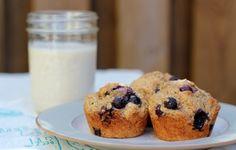blueberry banana whole wheat muffins
