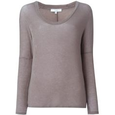 Iro Loren Sweater ($180) ❤ liked on Polyvore featuring tops, sweaters, taupe tops and taupe sweater