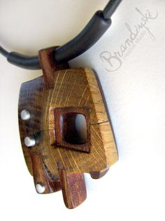 WOODEN JEWELRY  Original Handmade Wooden by BrandiyskiWOODENART, €75.00