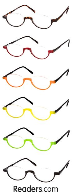 Talk about versatile. Wear the semi-rimless Clover as a full or half reader by adjusting where it sits on the bridge of your nose. Choose from a two-tone or solid frame color. Readers.com