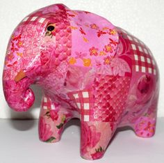 Pink decorated #elephants #phnompenh #madeincambodia