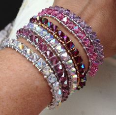 PATTERN Stack Um Up Bracelet Right Angle Weave door BaublesbyBalonis