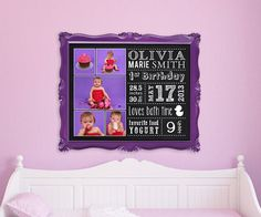 Personalized Nursery Decor Wall Art Birth by SugarPickleDesigns, $25.50