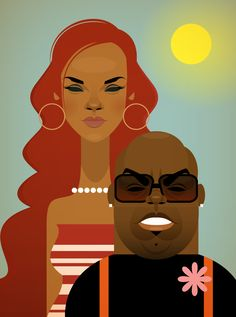 Rihanna and Cee Lo By Stanley Chow