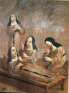 escenas del biombo espiritualidad en la vida de las monjas -