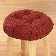 With Walter Drake bar stool cushions enjoy instant colorful comfortable seating. Tufted round bar stool cushion has custom-fit elasticized edges. & How to Cover a Round Wooden Bar Stool | Wooden bar stools Wooden ... islam-shia.org