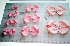 Lengthen of ribbon needed for different size bows. (Photo only)