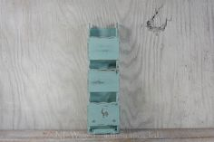Wall letter holder, distressed,  wood, wall letter organizer, mail holder, light blue, upcycled by NEWaged on Etsy