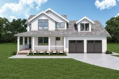 Check out this sweet modern farmhouse plan. It features an open floor plan and so much more! Questions? Call 1-800-447-0027 today. #architect #architecture #buildingdesign #homedesign #residence #homesweethome #dreamhome #newhome #newhouse #foreverhome #interiors #archdaily #modern #farmhouse #house #lifestyle #designer