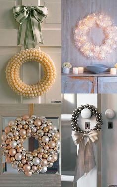 Beautiful DIY Christmas wreaths & other decor.