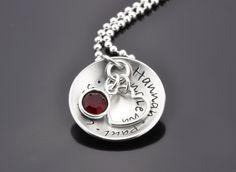 MY FAMILY 925 Silberkette Schmuck mit Gravur von samavaya auf DaWanda.com