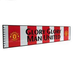 """MANCHESTER UNITED """"Glory Glory Man United"""" Metal Bar Scarf Sign. Approx 52cm x 11cm. Official Licensed Manchester United Gift. FREE DELIVERY ON ALL OF OUR GIFTS"""