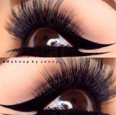 """#lashesfauxdays  A gorgeous look featuring #lashbrat """"COCO"""" mink fur lashes! Look at the amazing eyeliner detail! Wow! Purchase the #cocolashes at www.lashbrat.com"""
