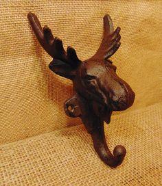 Cast Iron Moose Hat or Coat Hook #420