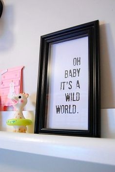 This worldly welcome: | 24 Awesome Nursery Wall Prints That Cost $0